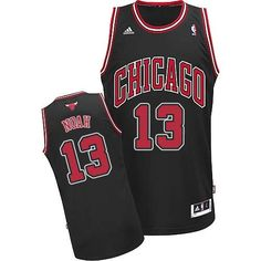 bcd1315879b1 Men s NBA Chicago Bulls  13 Joakim Noah Swingman Black Jersey Soccer Jerseys
