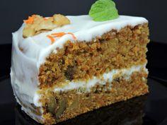 Porción de nuestra tarta de zanahoria