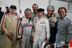 Brilliant picture of some F1 world champions!!! John Surtees 1964 Mario Andretti 1978 Nigel Mansell 1992 Jackie Stewart 1969,1971,1973 Damon Hill 1996 Emerson Fittipaldi 1972,1974