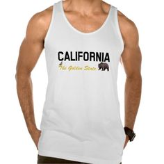 California - The Golden State Tank Tops  #California #Golden #State #CA #Tank #Top