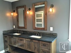 Soapstone Counters and Hickory Mirrors