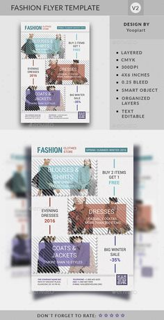 Fashion Flyer Template - Commerce Flyers Design Template PSD. Download here: https://graphicriver.net/item/fashion-flyer-template/16951331?s_rank=8&ref=yinkira