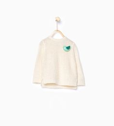 Knit sweater with appliqué detail-Cardigans and Sweaters-Baby girl | 3 months-4 years-KIDS | ZARA Latvia