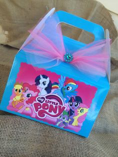 My Little Pony Birthday Party Candy Box- Favor Box by FantastikCreations on Etsy https://www.etsy.com/listing/201380249/my-little-pony-birthday-party-candy-box