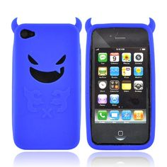 "This is the new ""Blue Lil Monster w/Horns"" silicone iPod case I bought for Benji! :D"