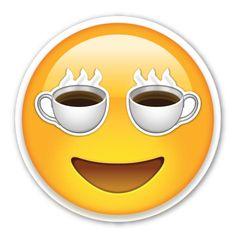 I love coffee emoji Coffee Is Life, I Love Coffee, Coffee Art, Emoticon Faces, Funny Emoji Faces, Happy Emoticon, Images Emoji, Emoji Pictures, Animated Emoticons