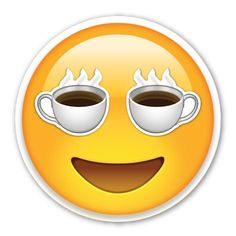 I love coffee emoji Animated Emoticons, Funny Emoticons, Smileys, I Love Coffee, Coffee Art, My Coffee, Emoji Images, Emoji Pictures, Stickers Emojis
