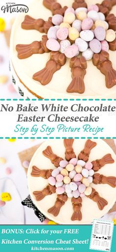 Chocolate Easter Cheesecake | No Bake | Mini Egg | White Chocolate