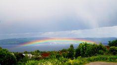 Lav regnbue over Mjøsa