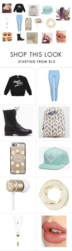 """""""First Day of High School"""" by zaynmalikswifie610 ❤ liked on Polyvore featuring Vans, Casetify, Beats by Dr. Dre, Rachel Zoe, Charlotte Russe and Charlotte Tilbury"""