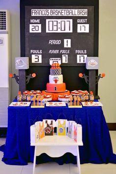 Sweets aj's bday party theme in 2019 день рождения. 1st Birthday Boy Themes, Sports Theme Birthday, Basketball Birthday Parties, Boy Birthday Parties, Birthday Party Decorations, Basketball Party Favors, Birthday Ideas, 13th Birthday, Basketball Baby Shower
