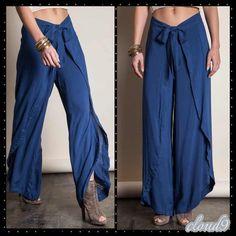 Last pair Indigo Wrap Pants Style must ~ Gorgeous Indigo Wrap Pants. Size: Medium. Brand new no tags. Price FIRM unless bundled. ❌NO PP AND NO TRADES❌ Cloud 9 Pants