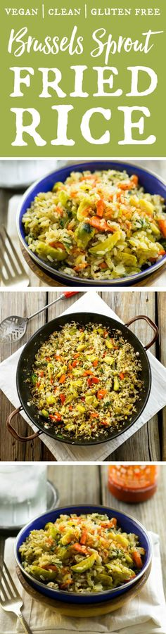 If you love sprouts, you have to try this Brussels Sprout Fried Rice. It's healthy, filling and packed with delicious flavor. The recipe is from the Vegan With A Vengeance Anniversary Edition by Isa Chandra Moskowitz. One of my favorite cookbooks! Asian Recipes, Whole Food Recipes, Vegetarian Recipes, Cooking Recipes, Veggie Recipes, Healthy Diet Tips, Healthy Eating, Healthy Recipes, Healthy Side Dishes
