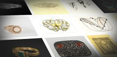 JEWELLERY BOX Online exhibition presenting jewellery designs and sketches of Eric O. W. Ehrström.