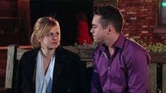 Sarah Platt (Tina O'Brien) & Todd Grimshaw (Bruno Langley) (December 2015)