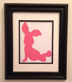 Winnie The Pooh Silhouette Nursery Wall Art  Free Shipping in the United States on Etsy, $10.00