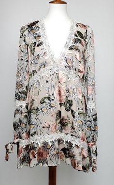 89006e5261b For Love and Lemons womens Luciana Swing Dress mini size Small floral lace  boho #ForLoveLemons