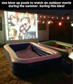 Also a pool/swimming movie night party thing