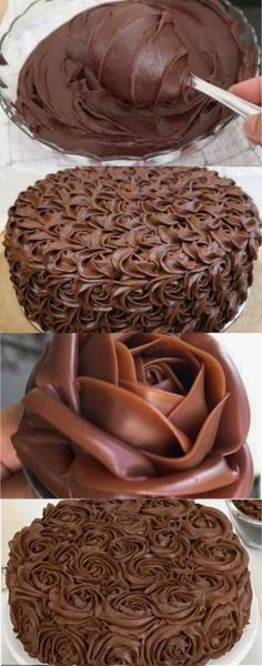 Cake Icing, Frosting, Cake Decorating Videos, Sweet Cakes, Baking Tips, Pasta, Love Is Sweet, Sweet Recipes, Brownies