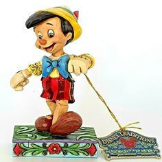 Disney Traditions Pinocchio figurine Lively Steps Jim Shore (NO BOX) Excellent Hanging Christmas Tree, Christmas Tree Ornaments, Disney Traditions, Sisters Forever, Disney Figurines, First Day Covers, Anna Frozen, Hexagon Shape, Pinocchio