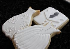 Wedding Cookies Wedding Dress Cookies Tux von 4theloveofcookies