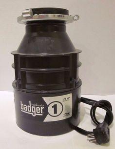 Badger Insinkerator 1 Heavy Duty Motor 1/3 HP 1-83 6.7 Amps Black #Badger