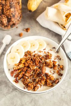 This make-ahead honey nut granola is the perfect easy breakfast! Mix up a batch and then eat it with milk or as a parfait.