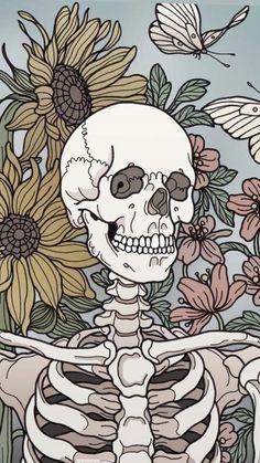 Wallpaper Iphone Trippy Dark 24 Ideas For 2019 Art Inspo, Kunst Inspo, Art And Illustration, Art Sketches, Art Drawings, Art Du Croquis, Skeleton Art, Skeleton Head Drawing, Anatomy Art