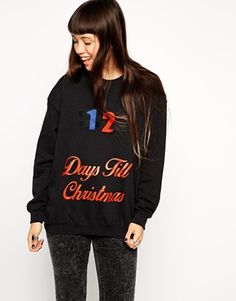 ASOS Reclaimed Vintage Christmas Jumper with Stick-On Countdown Days to Christmas