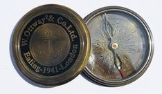 Maritime Compasses W.ottway Nautical Vintage Antique Style Brass Poem Compass Replica Antiques