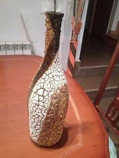 botellas pintadas a mano con pasta | Decorar tu casa es facilisimo.com