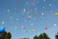 Balloon release for a beautiful tribute to a loved one at a Celebration of Life memorial www.eternallyloved.com