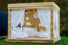 Garden Cubes v minimalistickém provedení Cubes, Glamping, Double Vitrage, Design Moderne, Outdoor Furniture, Outdoor Decor, Gazebo, Outdoors, Home Decor