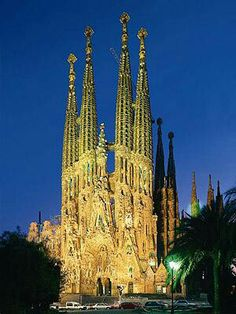 Antonio Gaudi, Sagrada Familia, Barcelona, Spain
