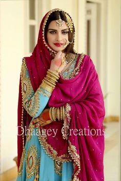 Himanshi Punjabi Dress, Pakistani Dresses, Indian Dresses, Indian Outfits, Designer Punjabi Suits, Indian Designer Wear, Punjabi Fashion, Indian Fashion, Indian Bridal Wear