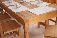 Essgruppe 200cm Hacienda - Esstisch & 8 Stühle - Pinie massiv - hellbraun…