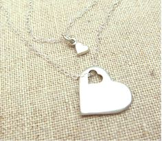 Cutout Heart Mother Daughter Necklace Set – Emily Jane Designs