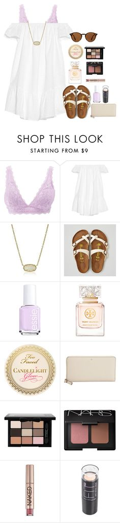"""contest entry #1"" by cora-g77 ❤ liked on Polyvore featuring Charlotte Russe, Elizabeth and James, Kendra Scott, American Eagle Outfitters, Essie, Tory Burch, Kate Spade, NARS Cosmetics, Urban Decay and Maybelline"