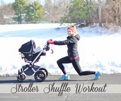 How creative! A Stroller Shuffle workout that lets you exercise with your little one