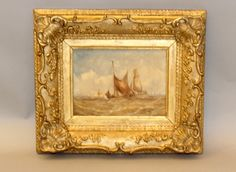 """191: George Chambers watercolor """"Shipping"""" : Lot 191"""