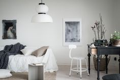 Style and Create — Pale colour shades, natural materials and a great mix of decor & details catch my eyes in this Gothenburg apartment via real estate agent Bjurfors | Styling by Emma Fischer | Photo by Alen Cordic, SE360