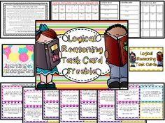 Logical Reasoning Task Cards Freebie