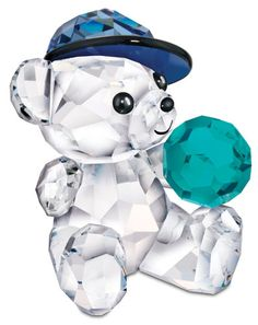 Swarovski Kris Bear Figurine - Let's Play Ball - Precious Accents