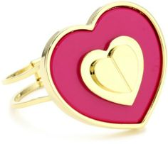 "Betsey Johnson Status"" Large Heart Hinged Bangle Bracelet on shopstyle.com"