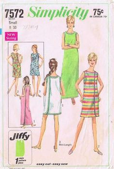 1960s Sewing Pattern Simplicity Jiffy 7572 Misses Wrap Around Dress Size Small   eBay. Definitely made one of these around the age of 11. It had three armholes and wrapped around, and you could wear it backwards or forwards. One of those trends that thankfully never came back.