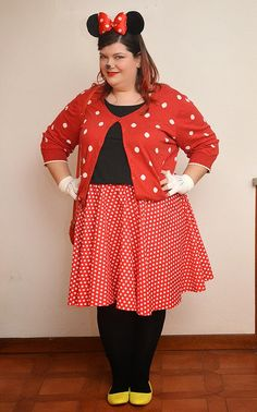 plus size costume: Minnie Mouse