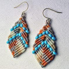 Macrame earrings...I wonder if I could make these?