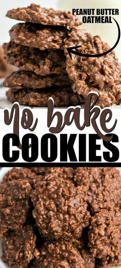 I am absolutely obsessed with these classic chocolate peanut butter no bake cookies. They are moist and chewy and oh so tasty. Growing up, my mom always made these simple, quick drop cookies from scratch. I loved stealing them fresh off the counter as soon as she finished each batch. They are the best no bake cookie recipe, in my opinion.
