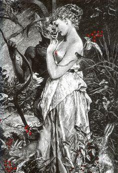"""carga-de-agua: """"Ilustración by Alejandra Acosta from """"La cámara sangrienta"""" by Angela Carter. Chilean illustrator. """""""