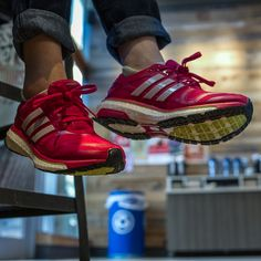 The adidas Boost added a pop of color to my otherwise neutral outfit. #FNLStyle